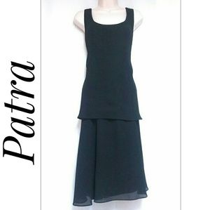 Vintage Patra Party Cocktail Dress Black Size 12